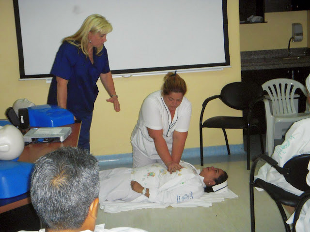 Student Nurse CPR demonstration