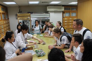 Student nurses with doctor in Taiwan