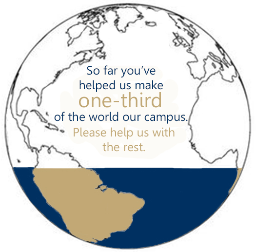 One-third of the world is our campus